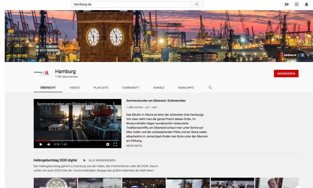 Hamburg på Youtube